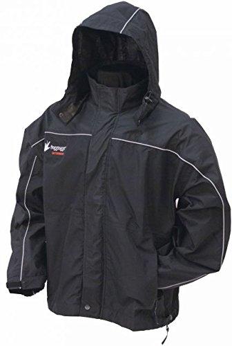 Frogg Toggs Toadz Highway Rain Jacket, Black, Lg