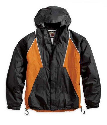 Harley-davidson Men's Canal Street Rain Suit, Rainwear Black/orange. 98246-06vm
