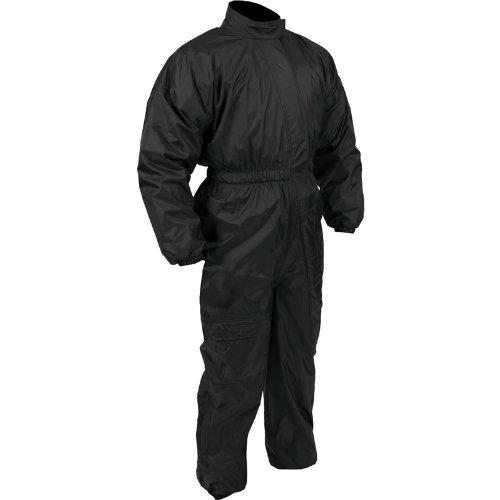 Rain Suit - Tempest 1 Piece Motorcycle Rain Jacket - Black - 3x-large