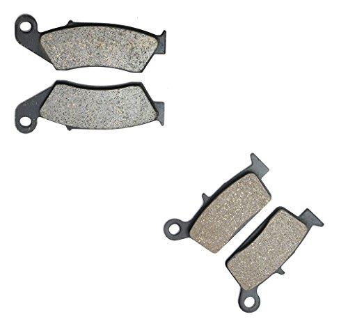 CNBK Semi-Metallic Brake Pads Set fit HONDA Dirt Bike CRF230 CRF 230 cc 230cc M Supermoto 09 10 2009 2010 4 Pads