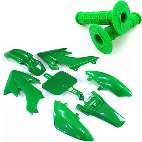 TC-Motor Green Throttle Handle Grips  Body Work Fender Plastic Fairing Kits For Honda Dirt Bike XR50 CRF50 Chinese Pit Bike 50cc 90cc 110cc 125cc 150cc 160cc