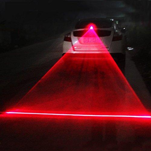 Car Anti-collision Laser Fog Light Auto Anti-fog Parking Stop Braking Signal Indicators Motorcycle LED Warning Light Strong red line