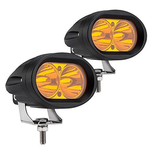 WEISIJI LED Work Light2PCS Amber Color Motorcycle LED Headlight 20W LED Fog Light Off Road Driving Light ATV UTV LED Light Bar for Jeep Truck Boat SUV Lamps 2 years Warranty