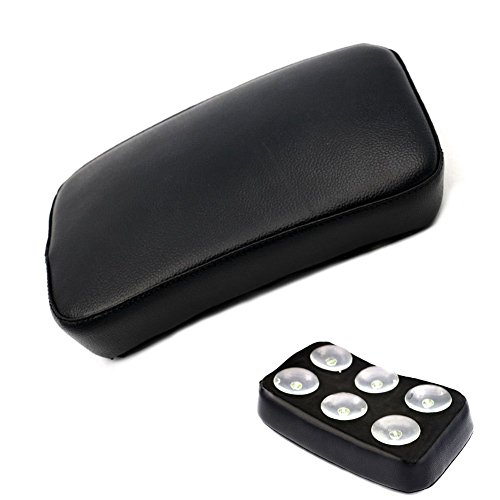 Motorbike Pillion Pad Suction Cup Solo Rear Seat Passenger Saddle for Harley Dyna Sportster Softail Touring XL 883 1200