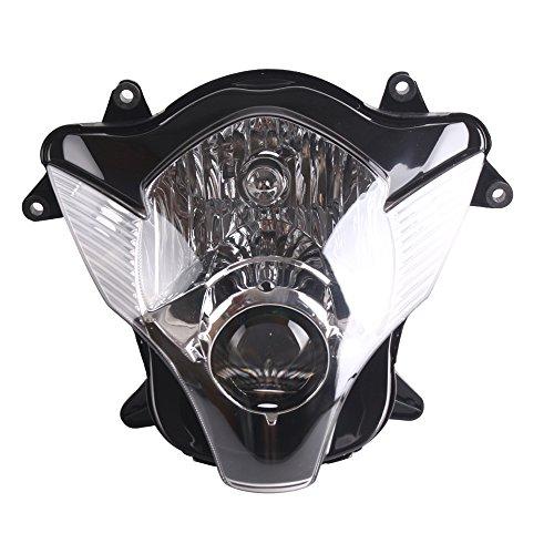 Mallofusa Front Headlight Motorcycle Headlamp Assembly for Suzuki GSX-R 600750 K6 2006 2007