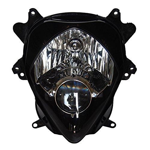 Mallofusa Motorcycle Headlamp Headlight Assembly for Suzuki 2007 2008 GSXR 1000 Black