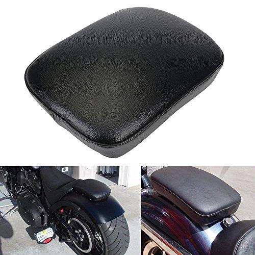 8 Suction Cup Rectangular Pillion Passenger Pad Seat For Harley Sportster Fatbob Dyna Softail Custom Chopper Cruiser Cafer Custom Universal