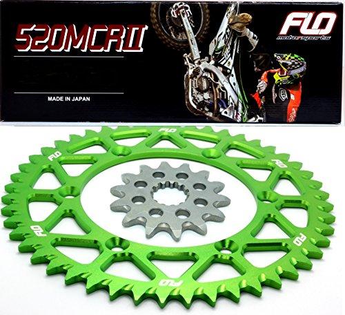 Flo Motorsports Gold Chain Sprocket Combo Kit KAWASAKI KX450F FRONT SPROCKET 13T  REAR SPROCKET 48 50 51 52 or 53 TOOTH 51T Green