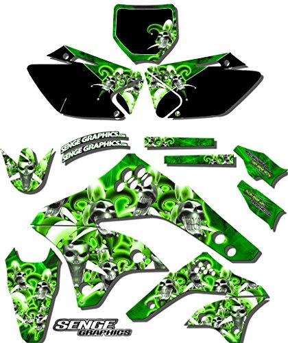 Senge Graphics 1994-1997 Kawasaki KX 80 Jester Green Graphics Kit
