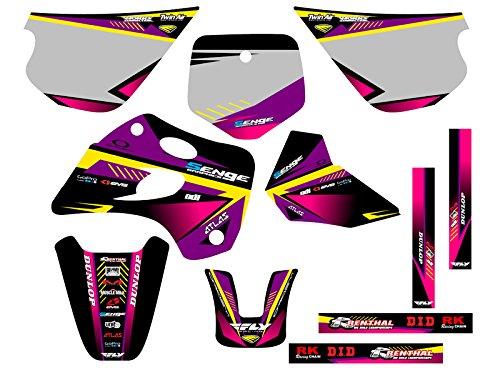 Senge Graphics 1994-1997 Kawasaki KX 80 Surge Purple Graphics Kit