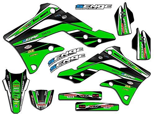Senge Graphics 1994-1997 Kawasaki KX 80 Vigor Green Graphics Kit