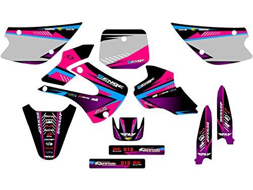 Senge Graphics 1998-2000 Kawasaki KX 80 Surge Pink Graphics Kit