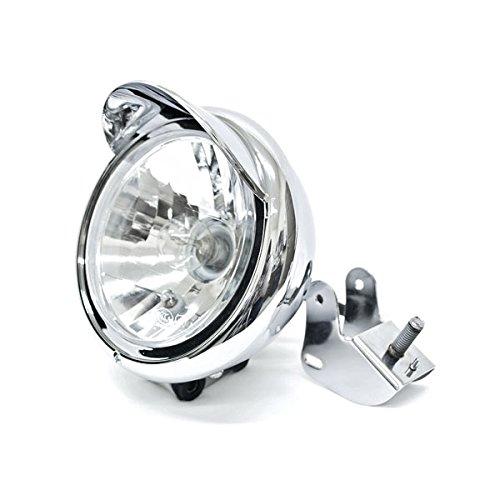 Krator Custom Chrome Headlight Head Light for any Harley Honda Yamaha Suzuki Kawasaki Custom Bike Cruiser Choppers