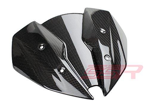 2013-2015 Kawasaki Z250  2016 Z300 Carbon Fiber Fibre Headlight Fly Screen Cowl Panel  Windscreen Fairing