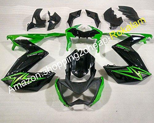Hot SalesFor Kawasaki Z250 2015 2016 Z 250 Z300 15 16 Z 300 Green Black Motorcycle Fairing Cowling Set Injection molding