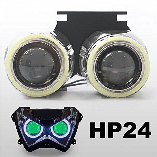 KT Tailor-Made HID Projector Kit HP24 for Kawasaki Z250 2013-2015 Green Demon Eye