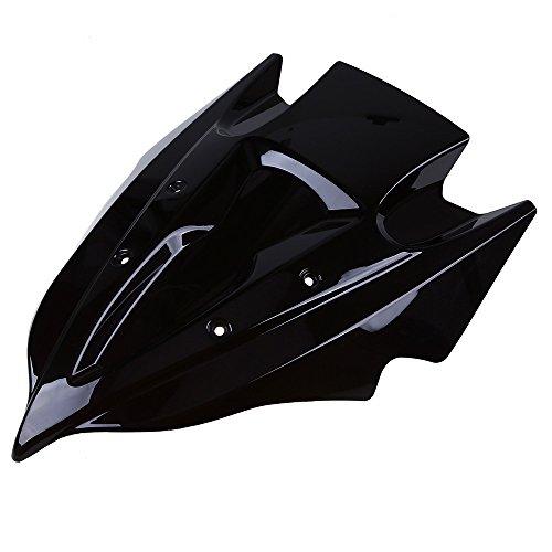 POSSBAY Motorcycle Windshields for Kawasaki Z250 Z750 2013-2015