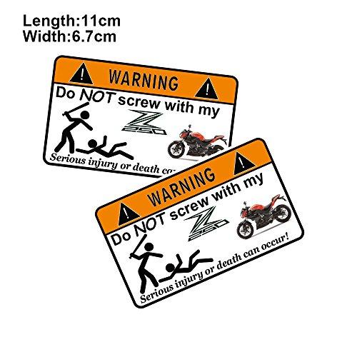 PRO-KODASKIN 2 Pieces Do Not Screw Warning Sticker Decal for Kawasaki Z250