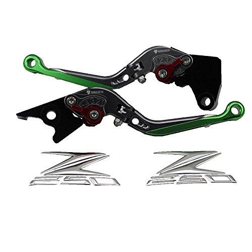 PRO-KODASKIN Motorcycle Brake Clutch Levers Fit for Kawasaki Z250 Green