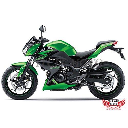 VITCIK Fairing Kits Fit for Kawasaki Z250 Z3 Z3000 2015 2016 Z250 Z3 Z3000 15 16 Plastic ABS Injection Mold Complete Motorcycle Body Aftermarket Bodywork Frame Green Black A001