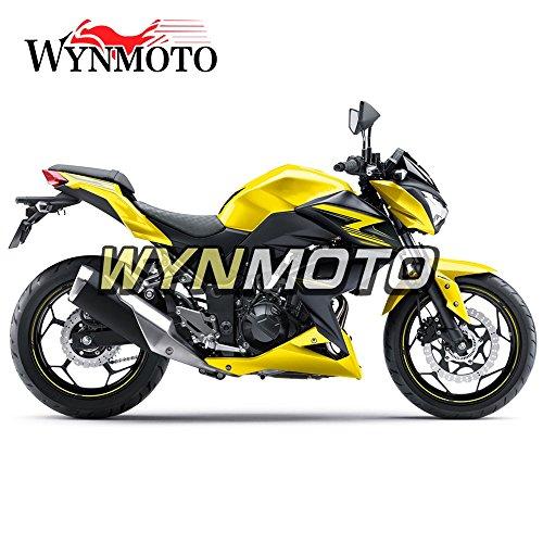 WYNMOTO ABS Injection Plastic Motorcycle Fairing Kit For Kawasaki Z250 Z3 2014 2015 2016 Pearl Yellow Black New Sportbike Cowlings