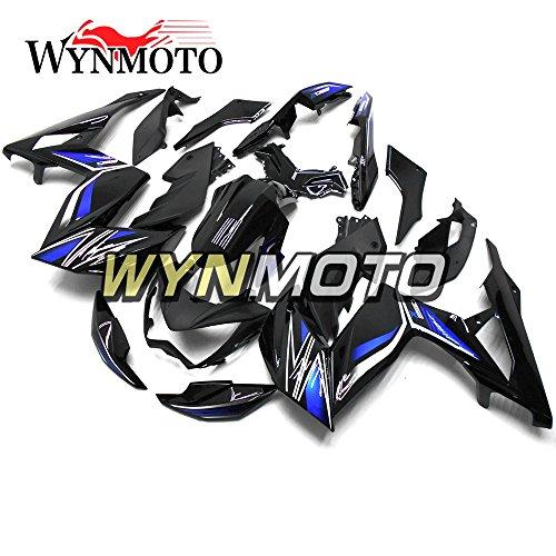 WYNMOTO Gloss Black Blue ABS Injection Plastic Motorcycle Fairing Kit For Kawasaki Z250 Z3 2014 2015 2016 Sportbike Coat