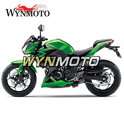 WYNMOTO Pearl Green Black ABS Injection Plastic Motorcycle Fairing Kit For Kawasaki Z250 Z3 2014 2015 2016 Sportbike Hulls