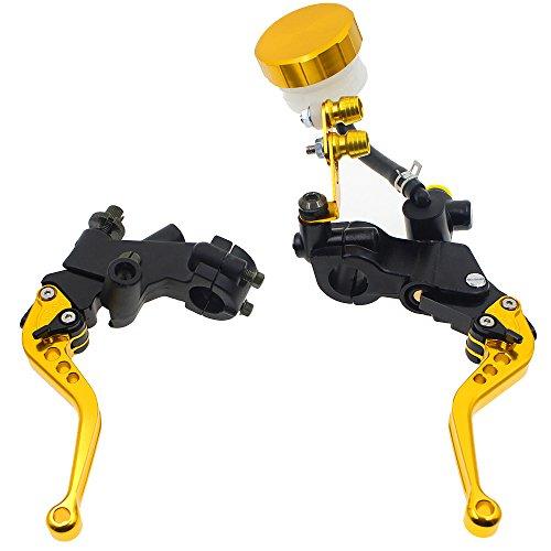 Rzmmotor CNC 78 22mm Motorcycle Brake Master Cylinder Reservoir Clutch Lever Universal Fit For Suzuki GSXR600 06-16 Kawasaki ER-5 98-05ZX636RZX6RR 05-06KTM 200 DukeRC200RC125 14-15