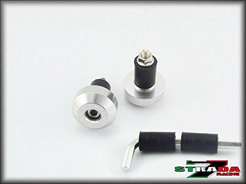 Strada 7 Racing CNC Handle Bar Ends Green For Kawasaki ER-5