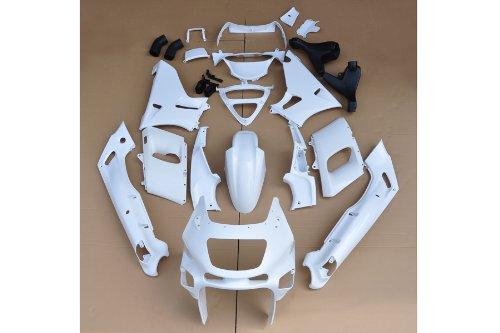 Wotefusi New Motorcycle ABS Plastic Unpainted Injection Mold Bodywork Fairing Kit Set For Kawasaki ZZR-400 1993-2007 1994 1995 1996 1997 1998 1999 2000 2001 2002 2003 2004 2005 2006 White