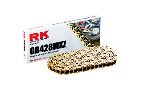 RK Racing Chain GB428MXZ-110 Gold 110-Links Heavy Duty Chain with Connecting Link