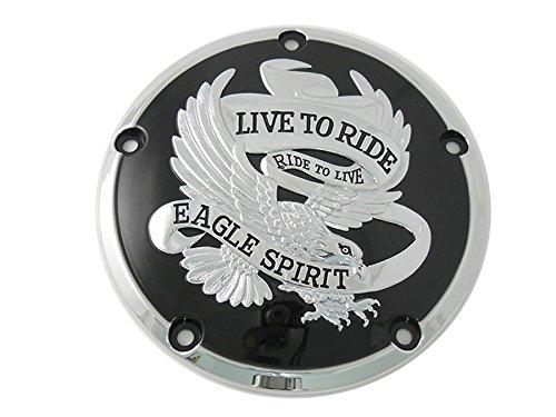 Harley Eagle Spirit Derby Cover Black