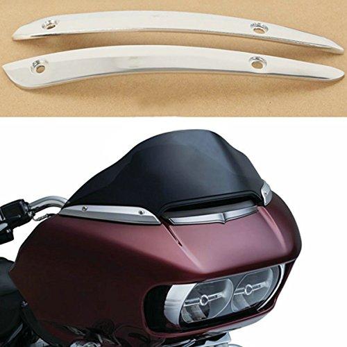 XFMT Chrome Windshield Side Trim For Harley Road Glide FLTRU FLTRX 2015-2017 New