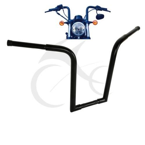 TCMT Black Ape Hangers Bar FAT 16 Rise 8 Pullback Handlebar For Harley FLST FXST