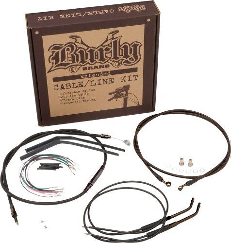 Burly Brand Black 16 Ape Hanger CableBrake Kit
