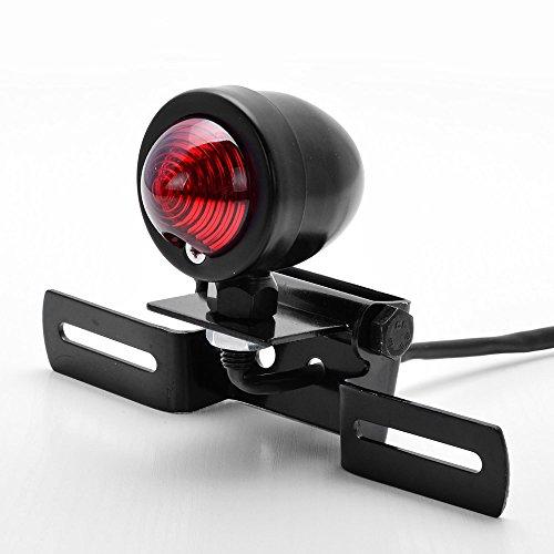 Custom Black Tail Brake Stop Running Light + License Plate Holder Bracket Relocator Motorcycle For Harley Bobber