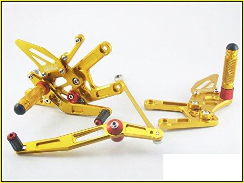 2013-2014 Kawasaki Ninja 300r Area 22 Cnc Adjustable Rear Sets Gold Rearsets