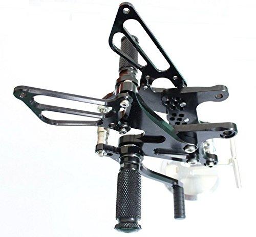 Black Motorcycle Parts Cnc Fully Adjustable Rear Sets Rearsets Pegs Fit For Kawasaki Zx6r Ninja 2005 2006 2007