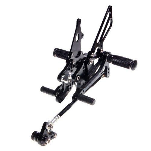 Black Oem Motorbike Adjustable Rear Sets Rearsets Fit For Honda Cbr600rr 2003 2004 2005 2006