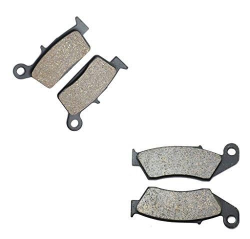 CNBK Semi-met Brake Pad Set for KAWASAKI Dirt Bike KLX400 KLX 400 cc 400cc R R KLX 400B1 B2 03 04 2003 2004 4 Pads