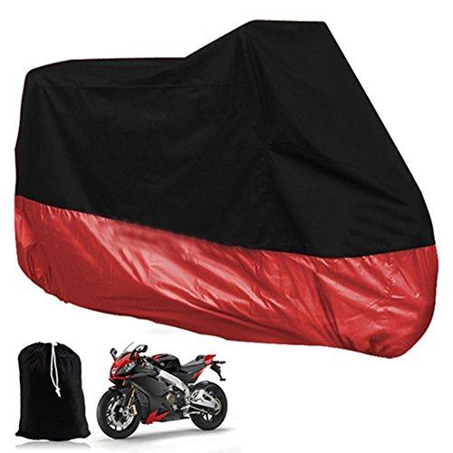 All Season Waterproof Sun Motorcycle Cover Durable Waterproof Dustproof UV Protective Heatproof Motorbike Covers with Carry Bag Universal Fit Multiple Motorcycles - 6 Size Options
