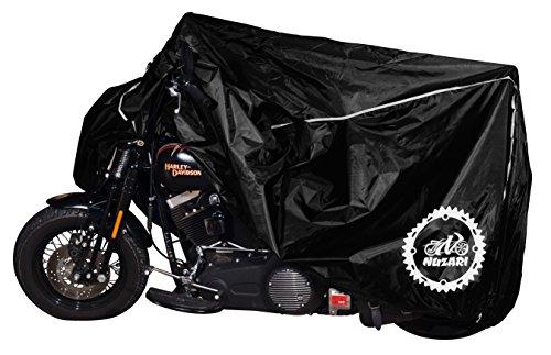 Premium Weather Resistant Motorbike Cover Waterproof High Grade Polyester wSoft Screen Heat Resistant Shield Lockable fabric Durable Long LastingFits Sport bike Cruiser Touring xxl blk