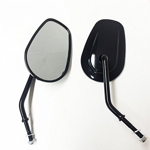 Black Rearview Shining Shining Mirrors For Harley Davidson FLSTC FXDB DYNA FXDF FLSTF 8mm By HTT
