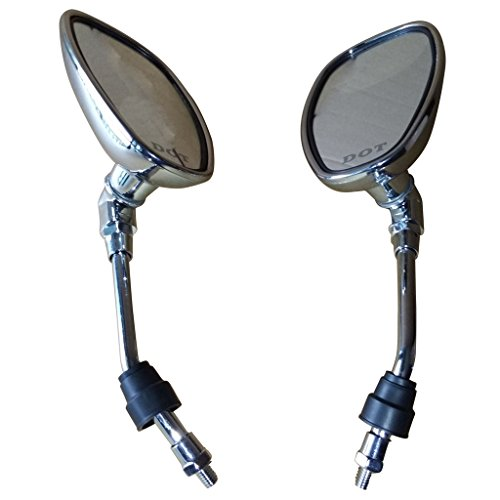 Mega Brands New Chrome Rearview Mirrors For Harley Davidson FLSTC FXDB DYNA FXDF FLSTF 8mm