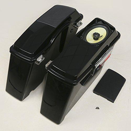 XFMT Vivid Black Hard Saddle Bags Speaker Lid Key For Harley Speaker  Saddlebags