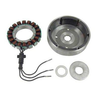 BKrider 32 Amp Stator and Rotor Kit for Harley-Davidson OEM 29957-81B 29970-88C C01010155