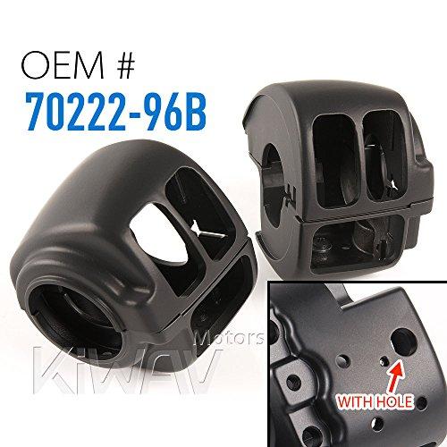 KiWAV black aluminum switch housing 0026 fit 1996-2015 Harley-Davidson OEM70222-96B