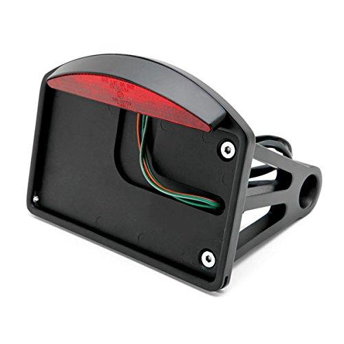 Krator Black Side Mount License Plate LED Brake Light For Harley Davidson XL Sportster 1200 Custom