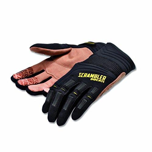 Ducati Scrambler Overland Gloves - BlackTan Medium