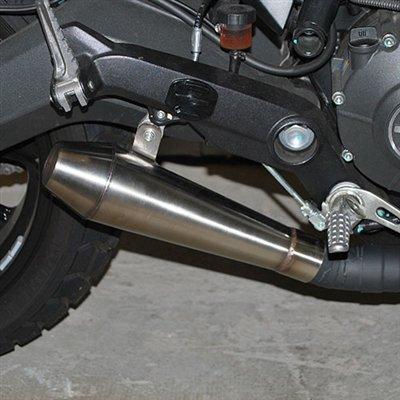 Ducati Scrambler Slip On Exhaust - Stainless Steel - New Rage Cycles